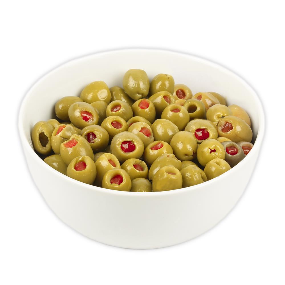 Aceitunas Verdes Rellenas Con Morron X Kg