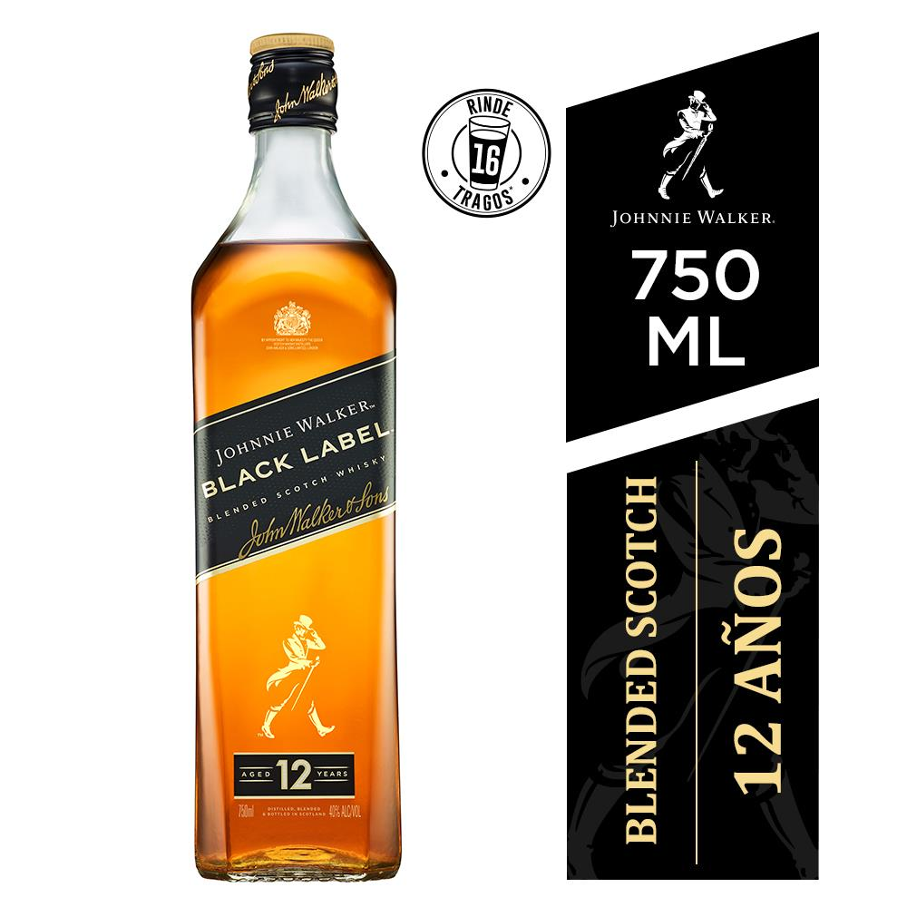Whisky Johnnie Walker 12 Años 750 Ml Black Label