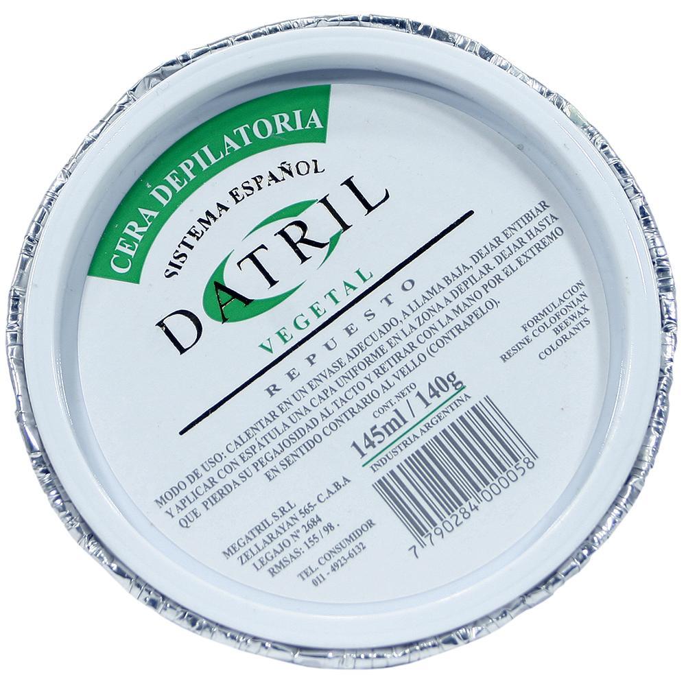 Cera Depilatoria DATRIL Vegetal Rto Pot 140 Grm