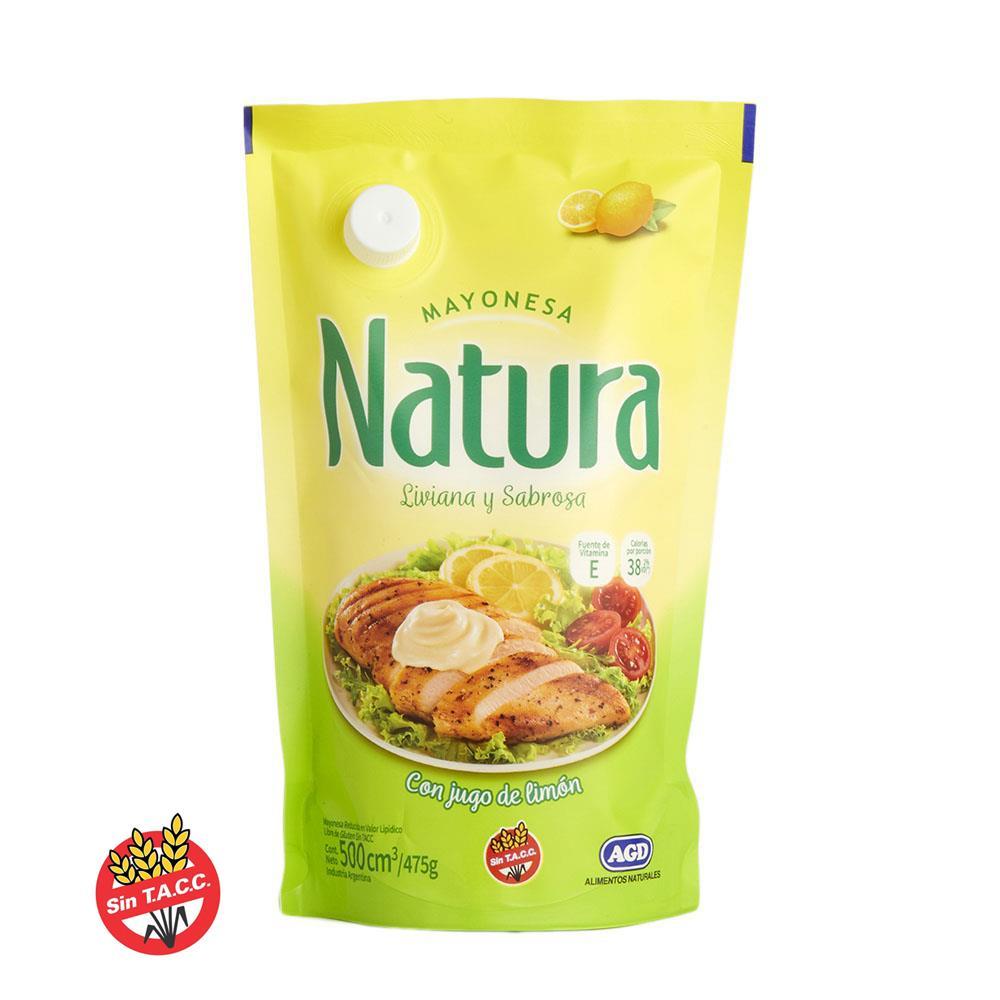 Mayonesa NATURA   Pouch 475 Gr