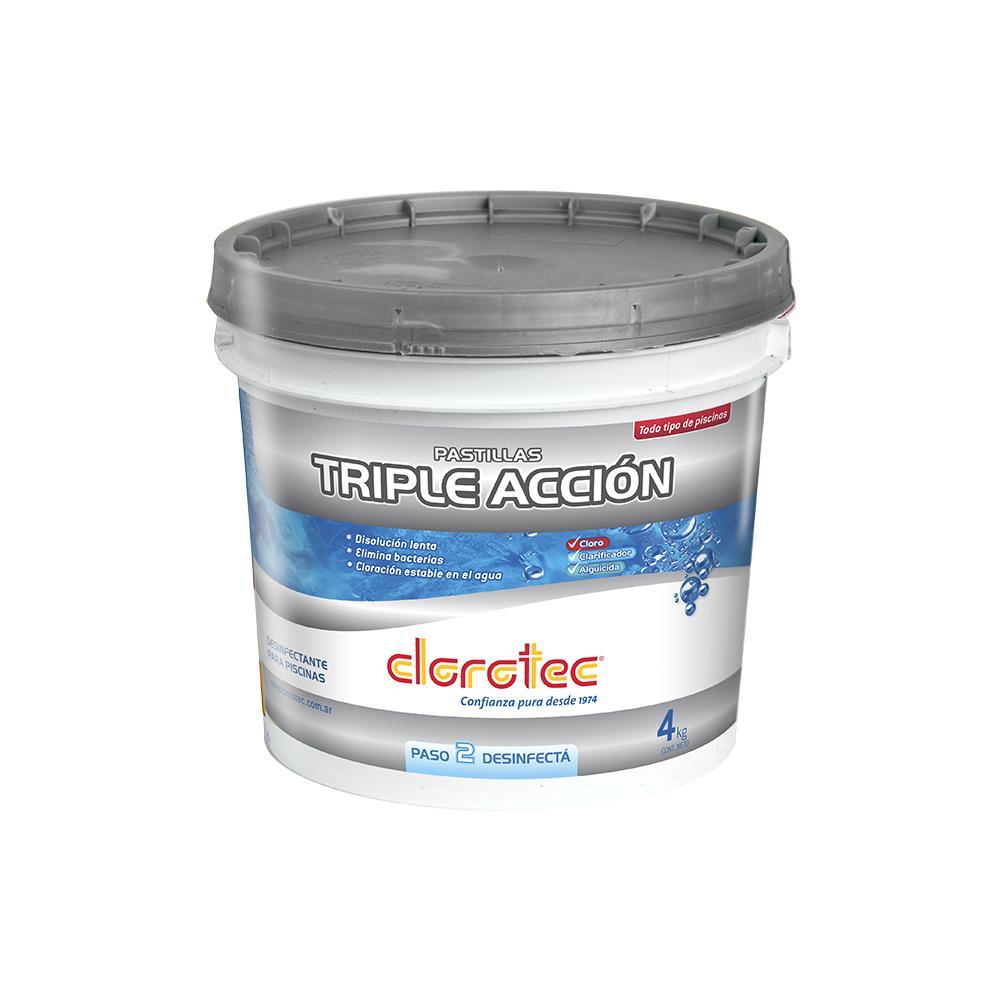 Cloro Hth Clorotec Pastillas Triple Accion Bal 4 Kg