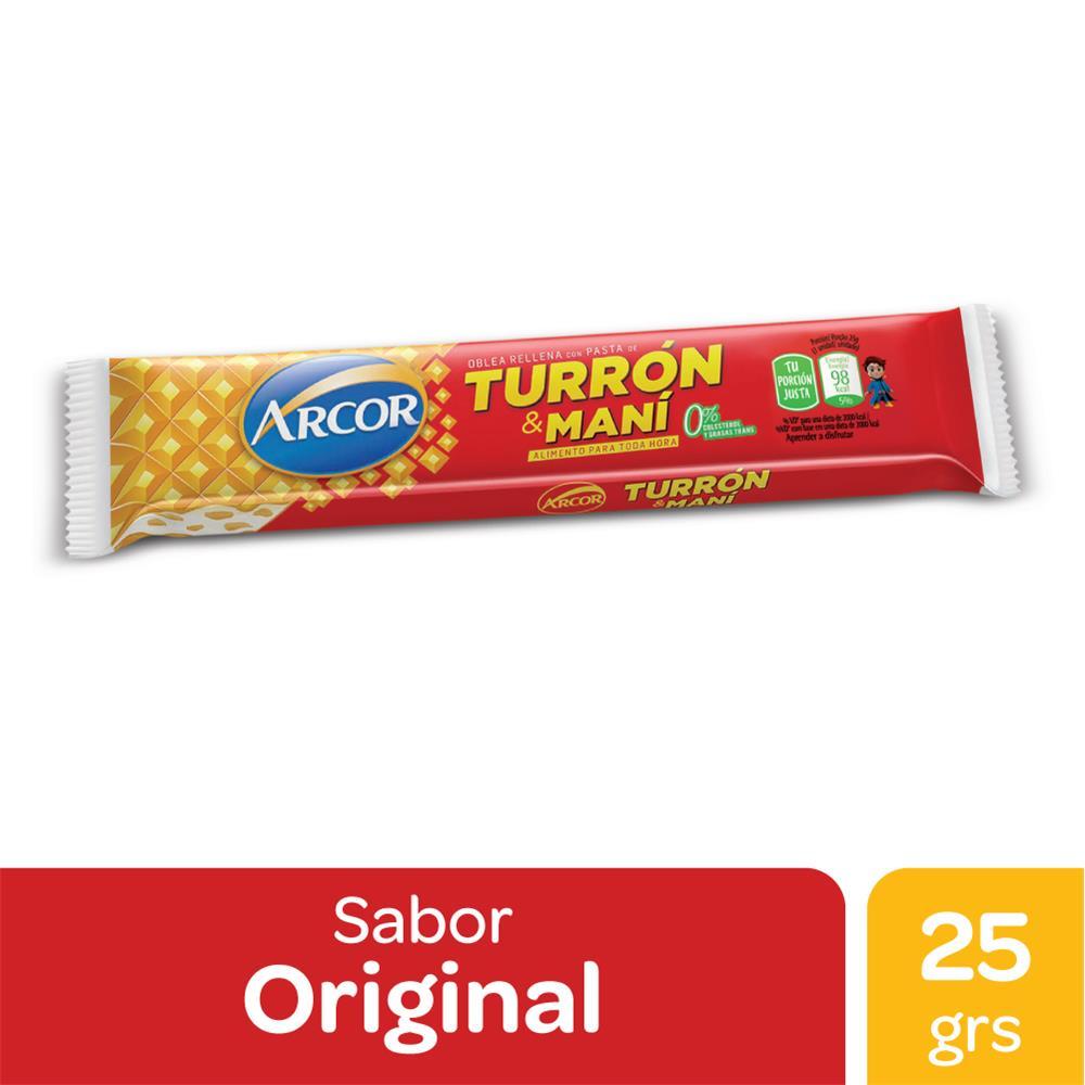 Turron Mani ARCOR Paq 25 Grm