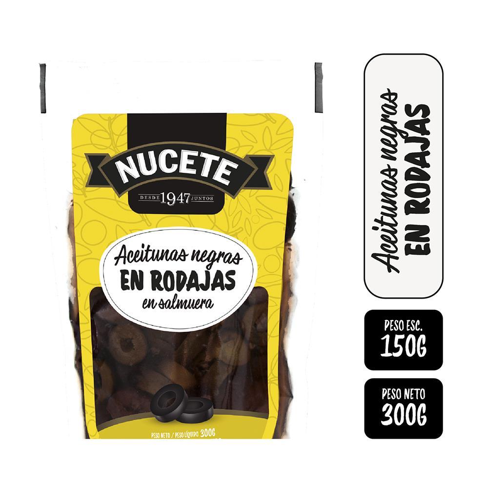 Aceitunas Negras NUCETE En Rodajas Pouch 300 Gr