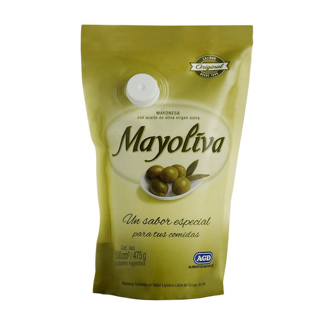 Mayonesa MAYOLIVA Con Oliva Pouch 455 Gr