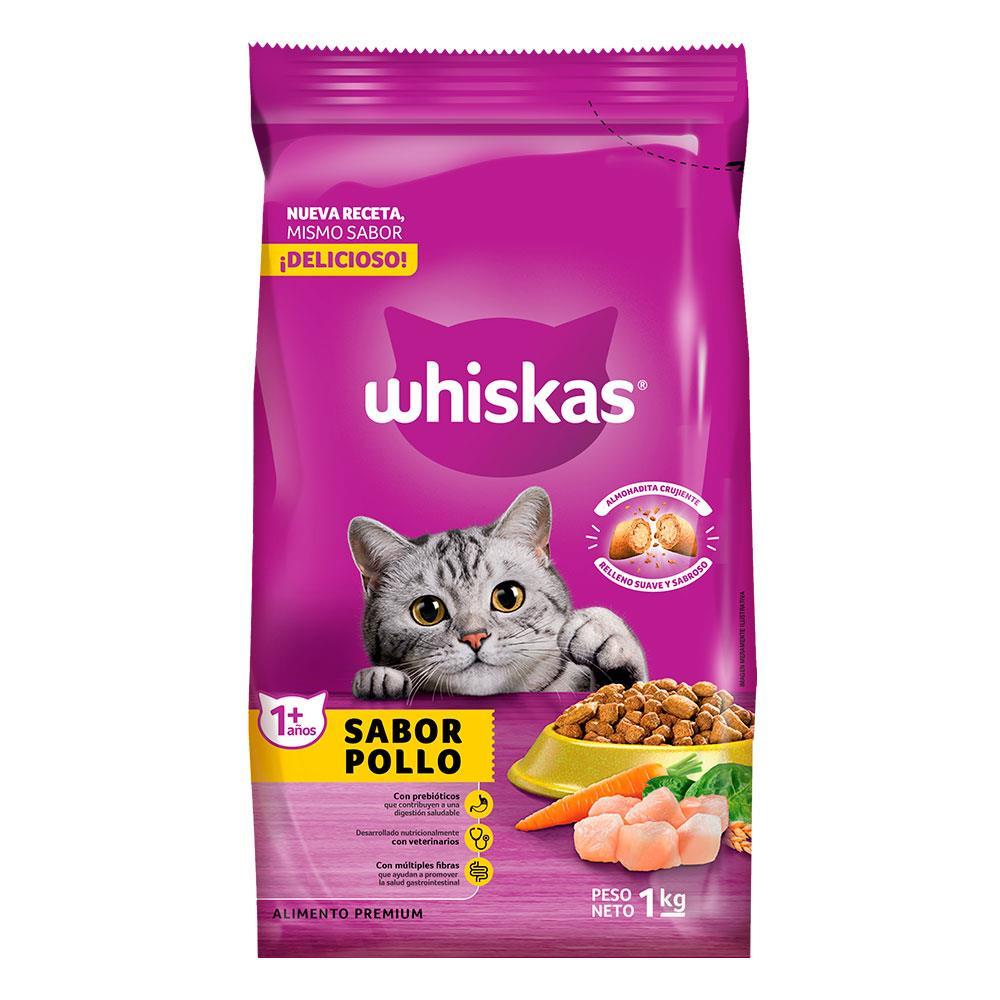 Alimento Para Gato WHISKAS Pollo Y Leche Bol 1 Kg