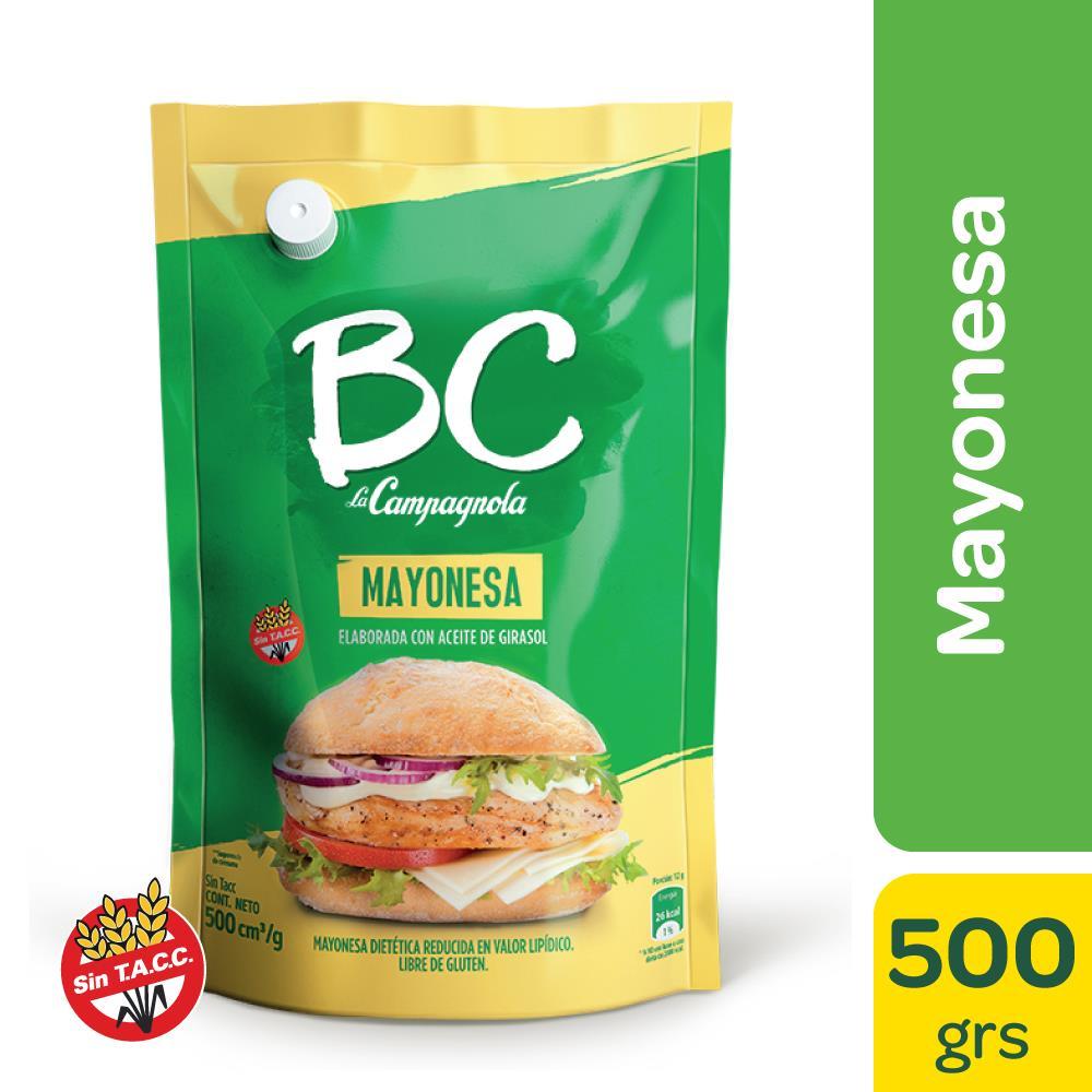 Mayonesa Bc La Campagnola Con Aceite De Girasol Pouch 485 Gr