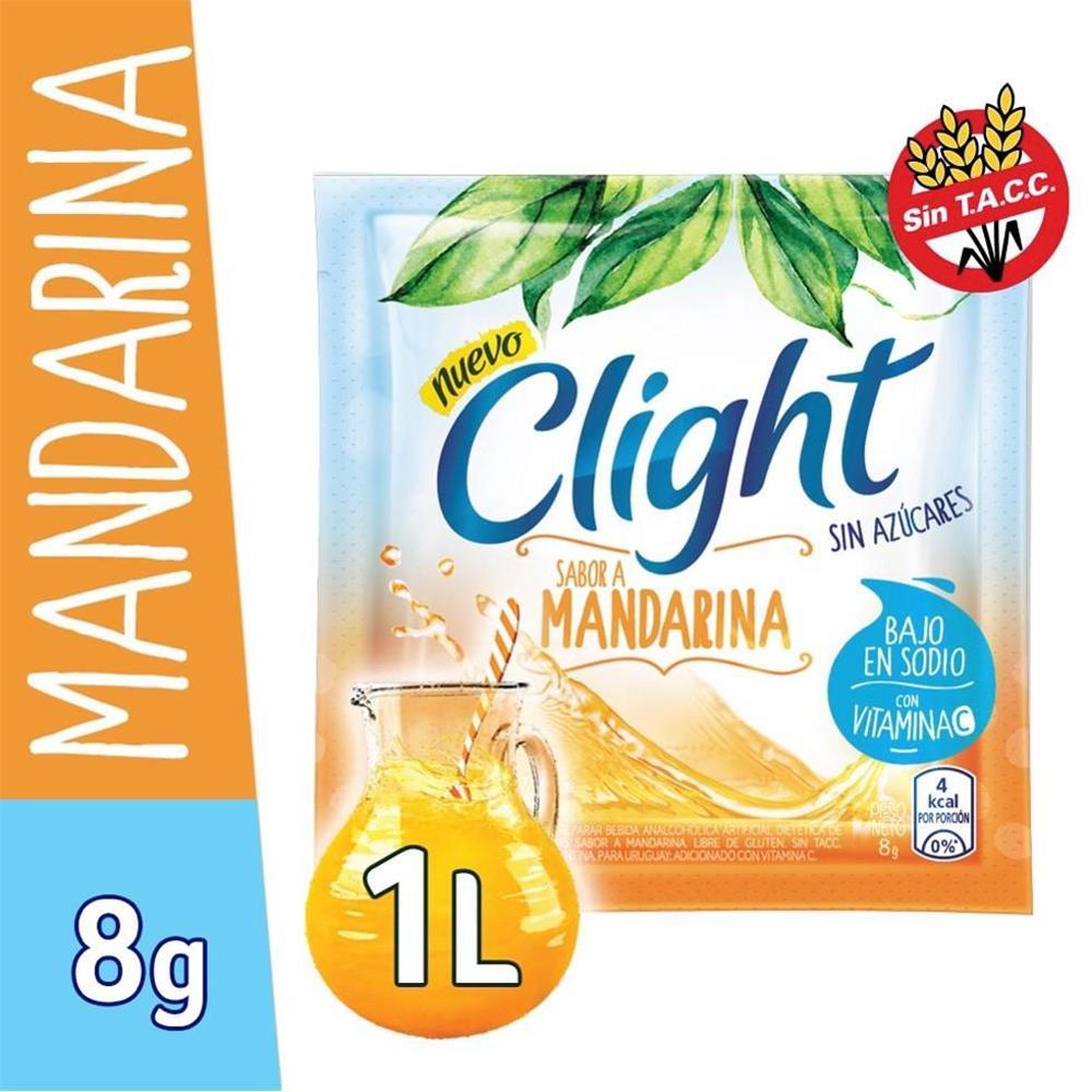 Jugo En Polvo CLIGHT Mandarina Light   Sobre 10 Gr