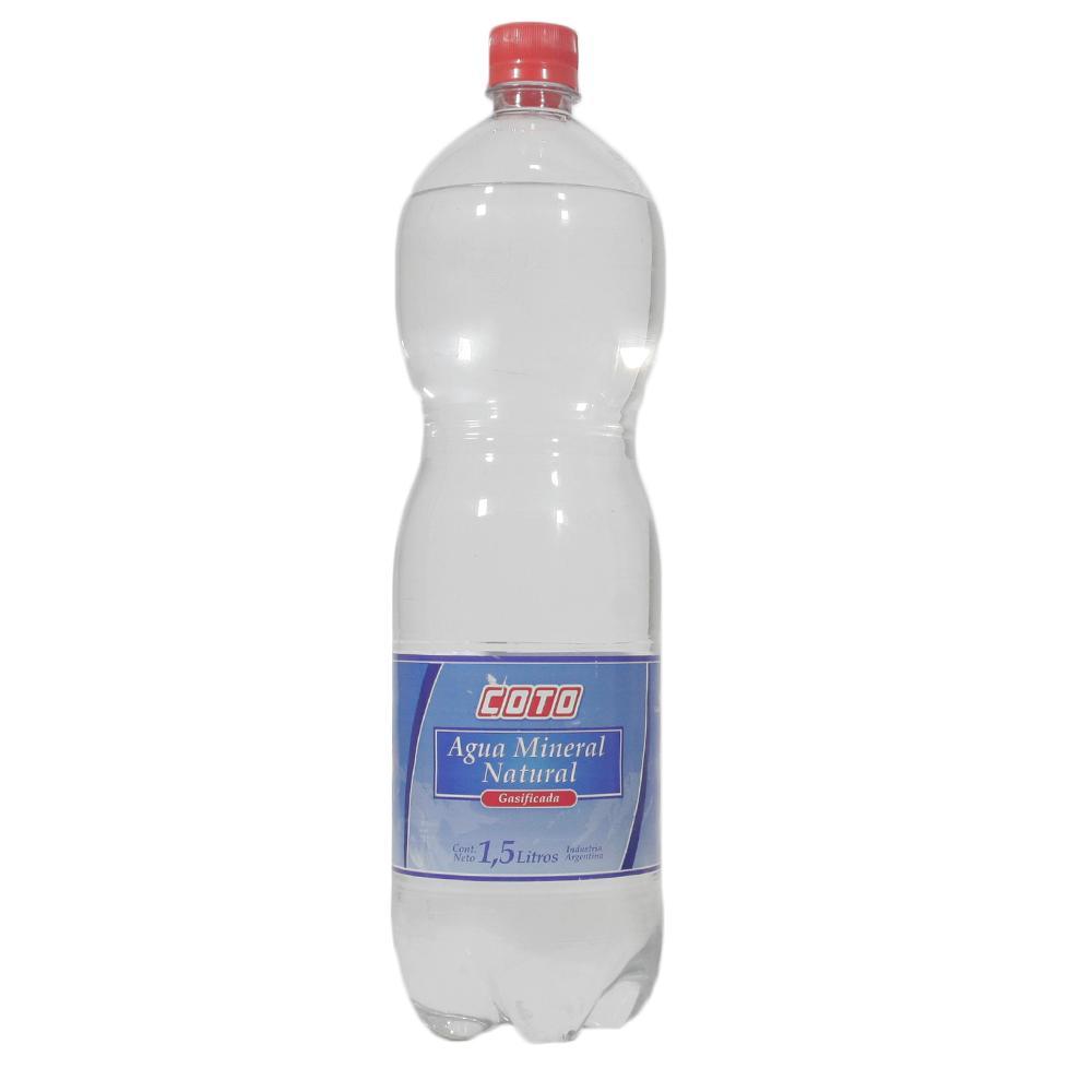 Agua Mineral Con Gas Coto   Botella 1.5 L