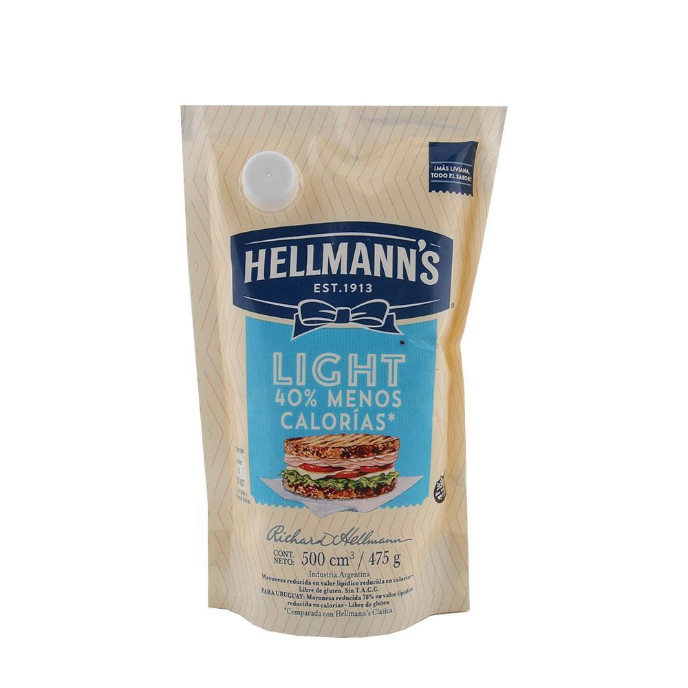 Mayonesa HELLMANNS Light Pouch 475 Gr