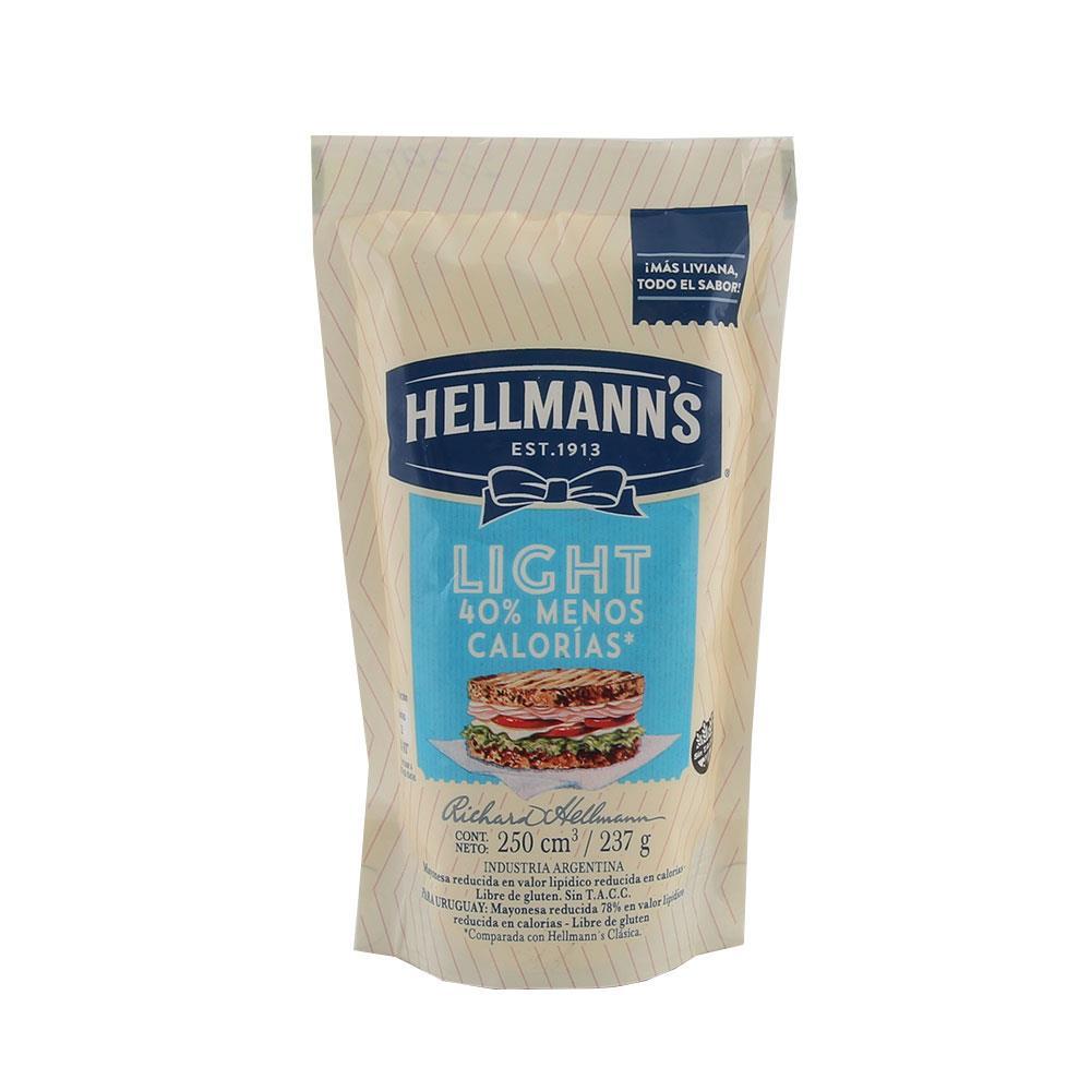 Mayonesa HELLMANNS Light Pouch 237 Gr