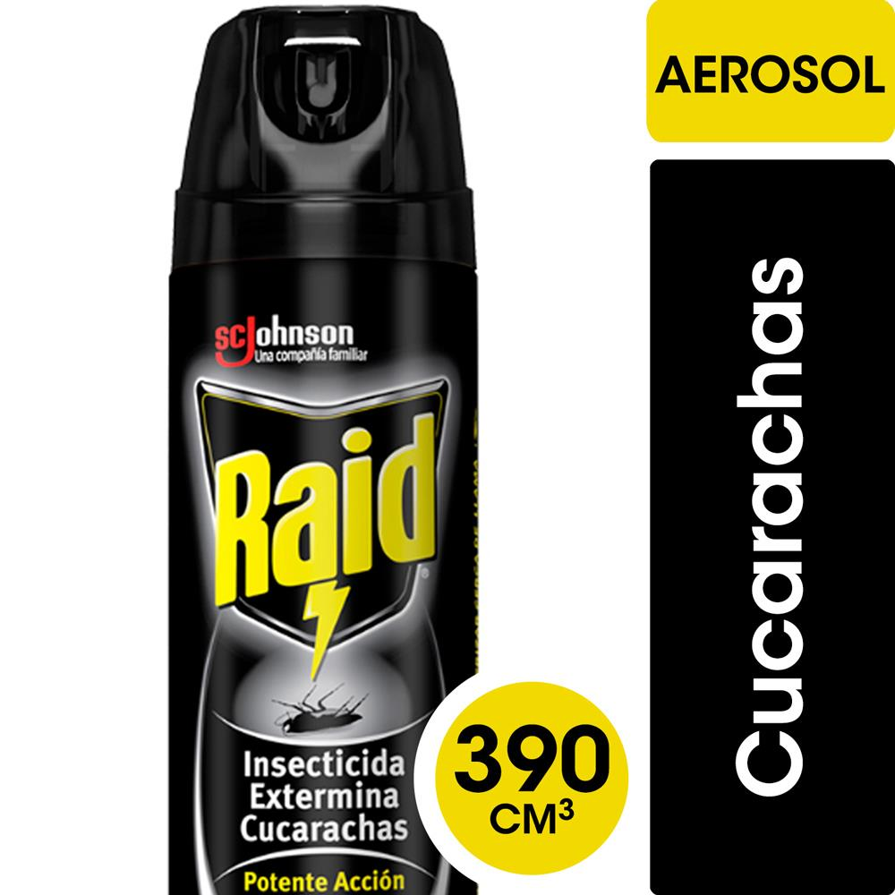 Insecticida RAID Exterminador Cucaracha Accion Res Aer 390 C