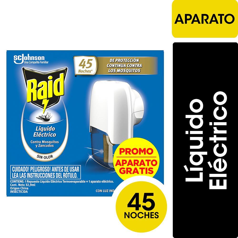 Aparato Insecticida RAID Doble Accion 45 Noche Rto Elec Cja 3