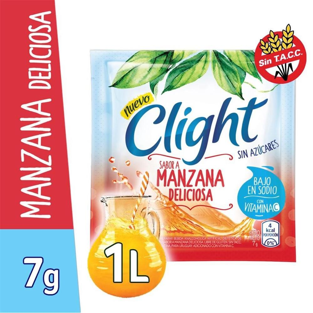 Jugo En Polvo CLIGHT Manzana Deliciosa Light Sobre 7.5 Gr
