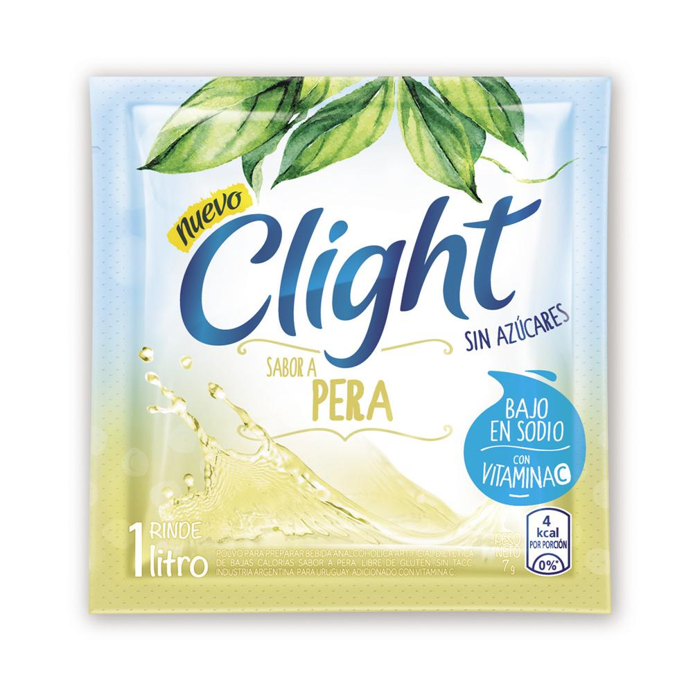 Jugo En Polvo CLIGHT Pera Light Sobre 7.5 Gr