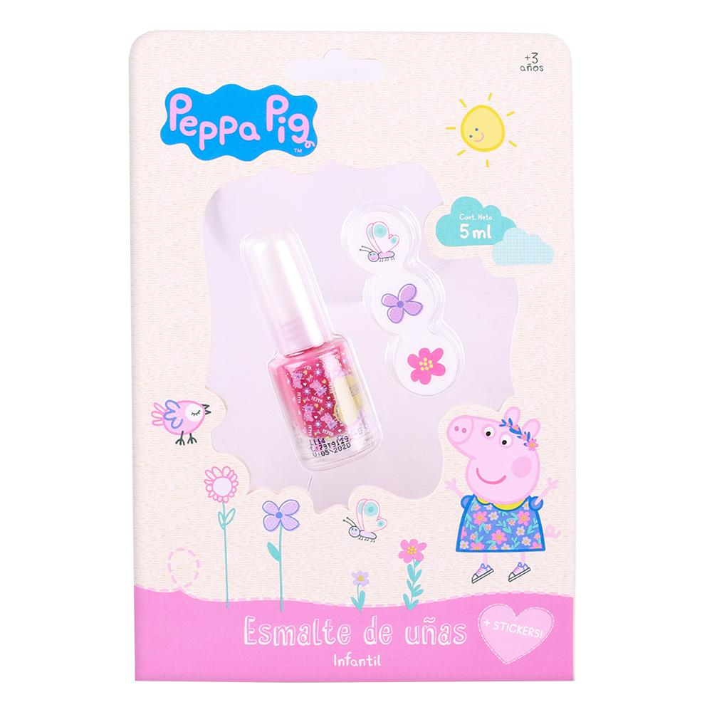 Peppa Pig Carton Esmalte Con Stickers . . .