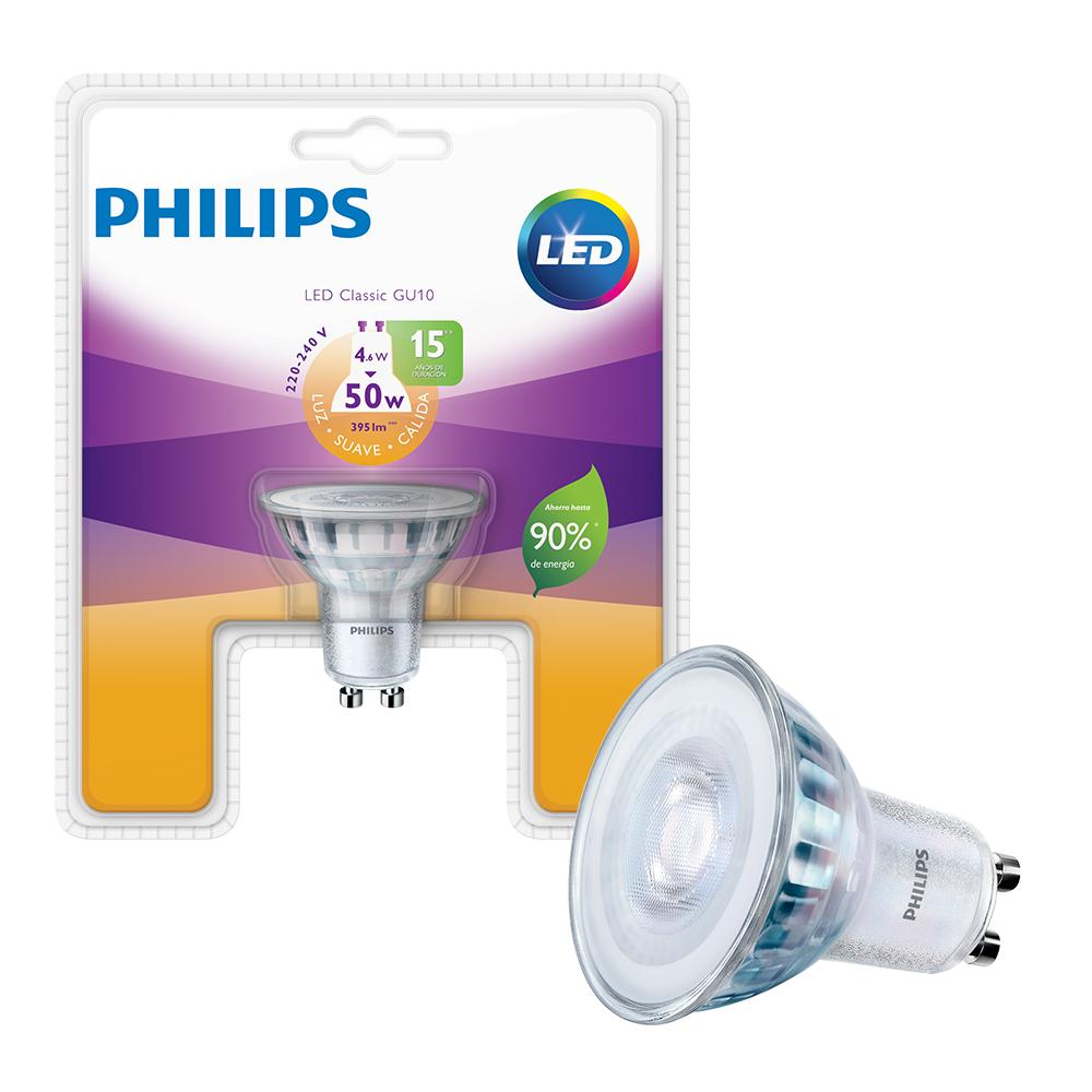 Lámpara Led Dicroica PHILIPS Calida 5 W Gu10   Blister 1 Unidad