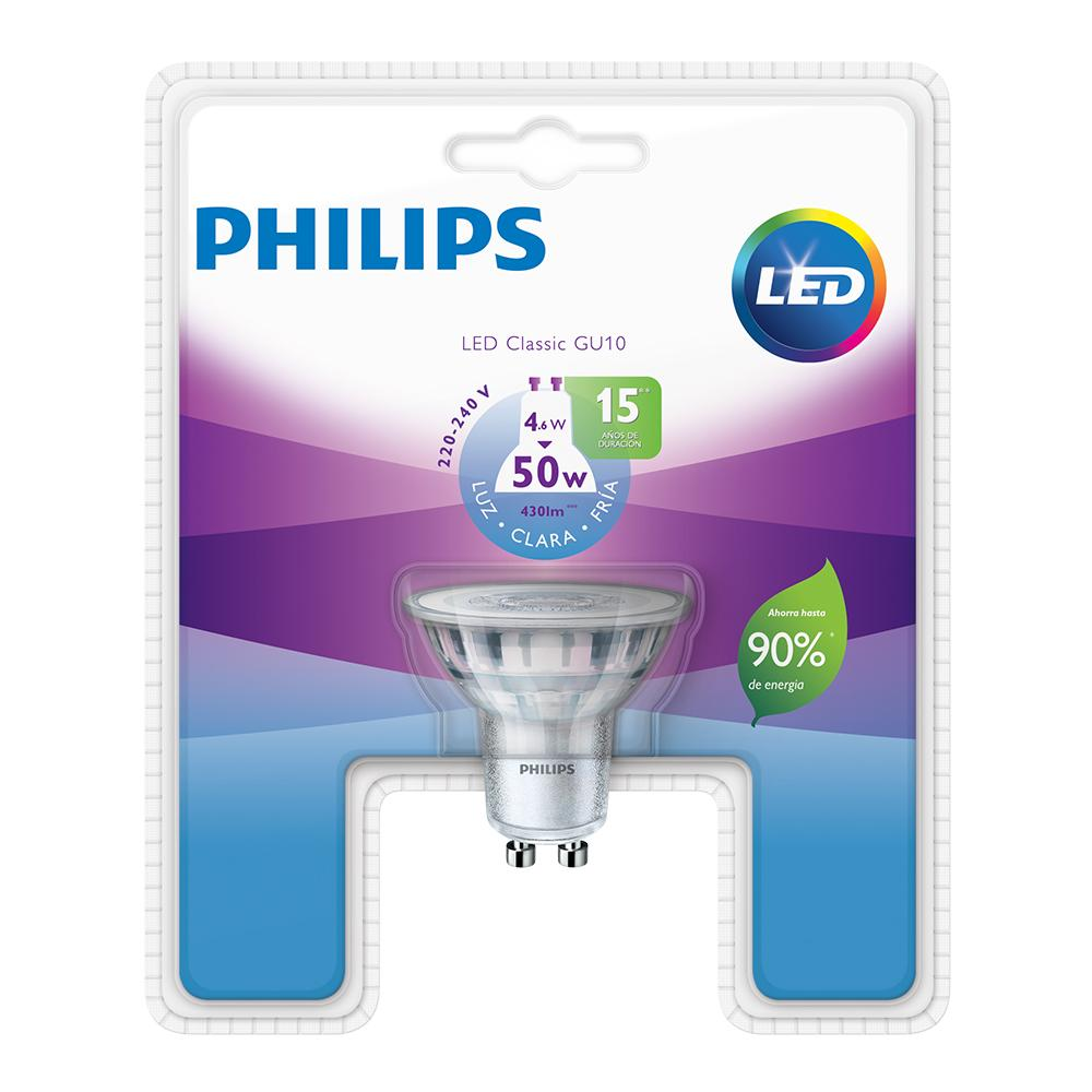 Lámpara Led Dicroica PHILIPS Fria 5 W Gu10   Blister 1 Unidad