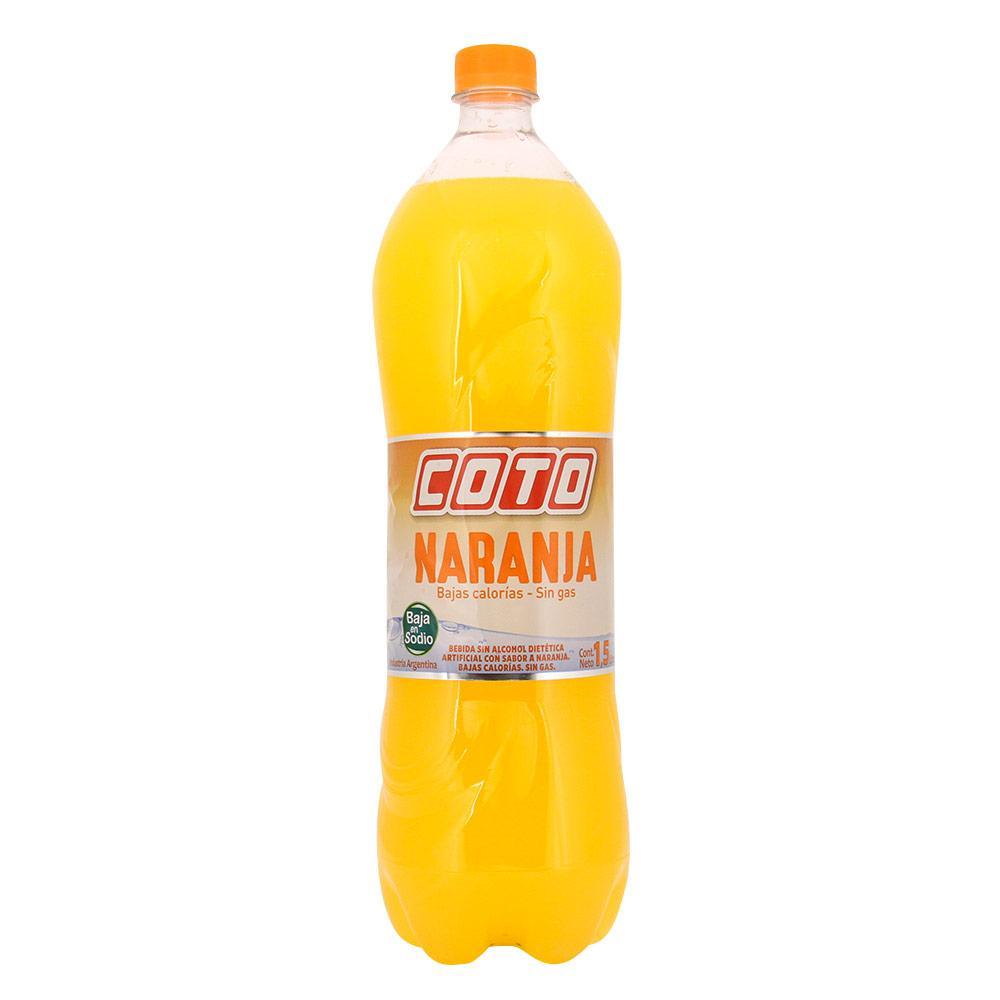 Agua Saborizada Coto Naranja Botella 1.5 L