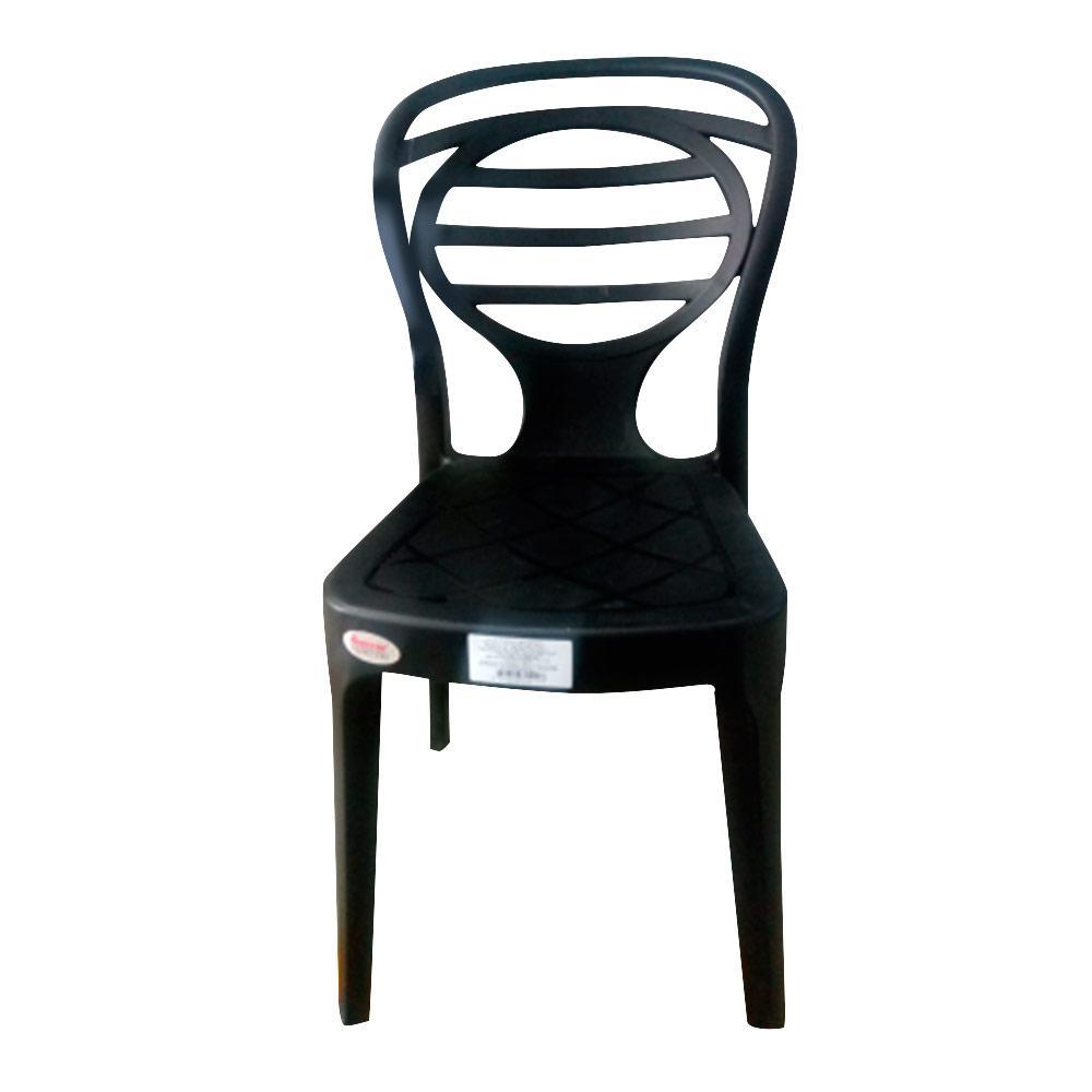 Silla Plastico Oak Black . . .. Medidas:85x42,5x54cm