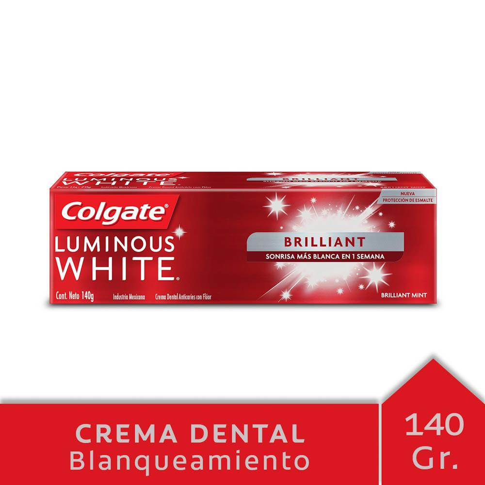 Crema Dental Colgate Luminous White Pomo 140 Gr