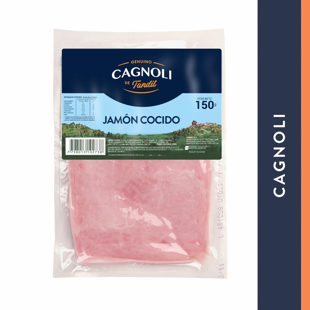 Jamon Cocido Feteado Cagnoli Bli 150 Grm