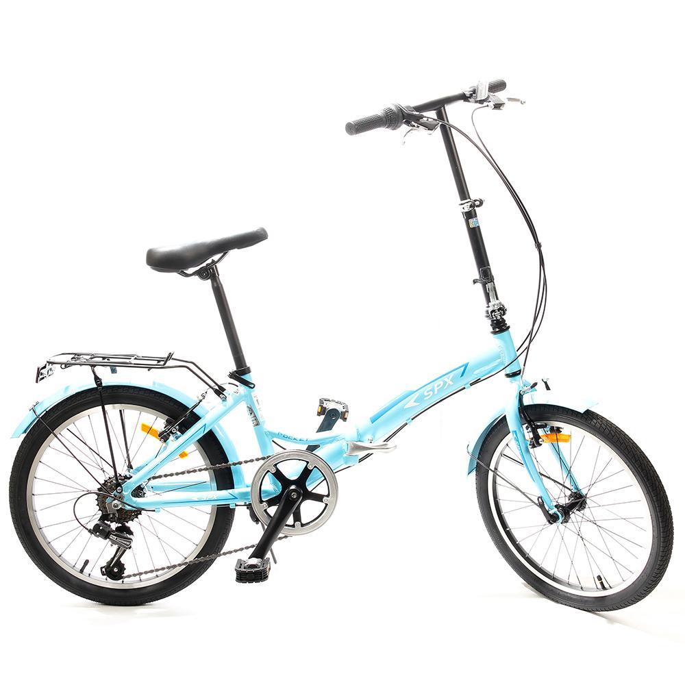 """Bicicleta Plegable Pocket SPX 20"""" Celeste"""
