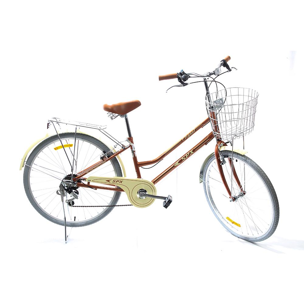 "Bicicleta De Paseo Elegant SPX 26"" Marron"