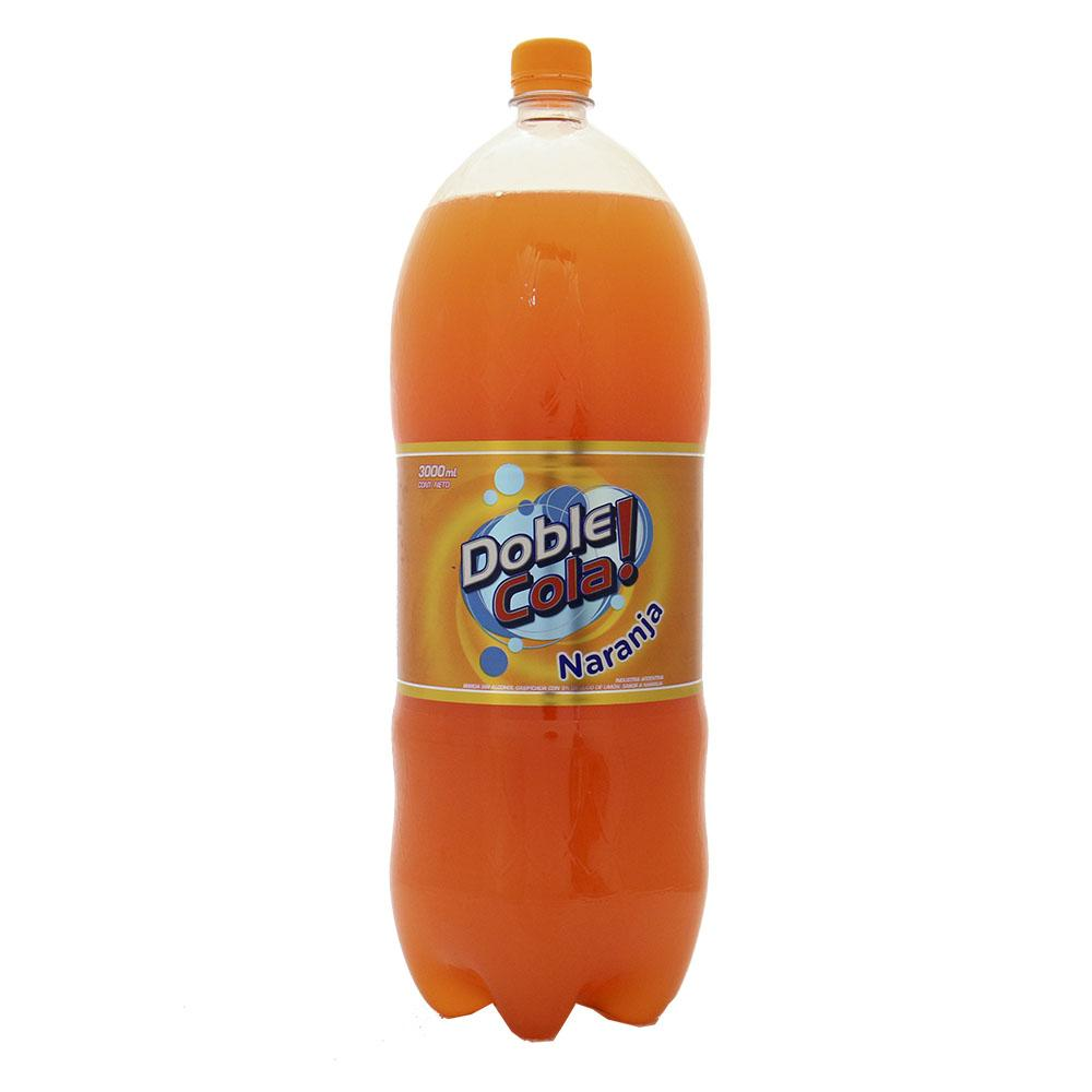 Gaseosa Naranja . Doble Cola Bot 3000 Cmq