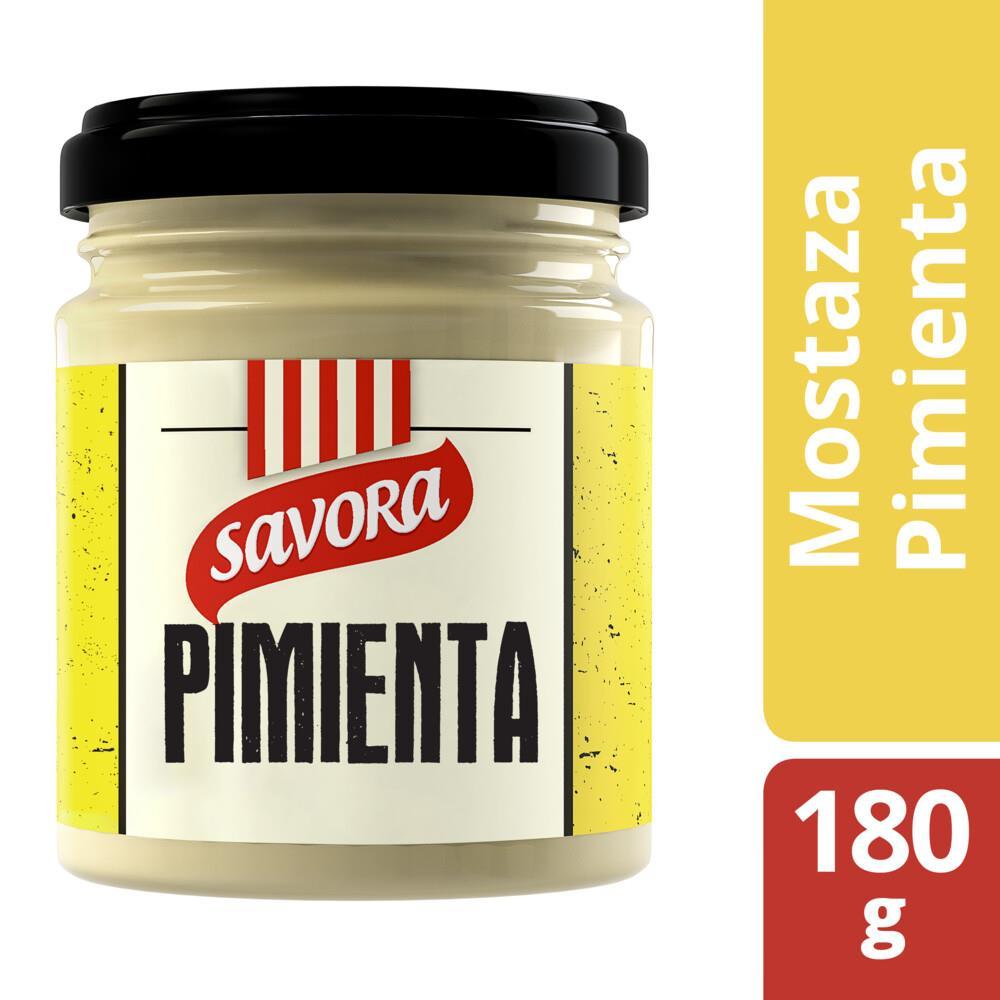 Mostaza Con Pimienta Savora Fra 180 Grm
