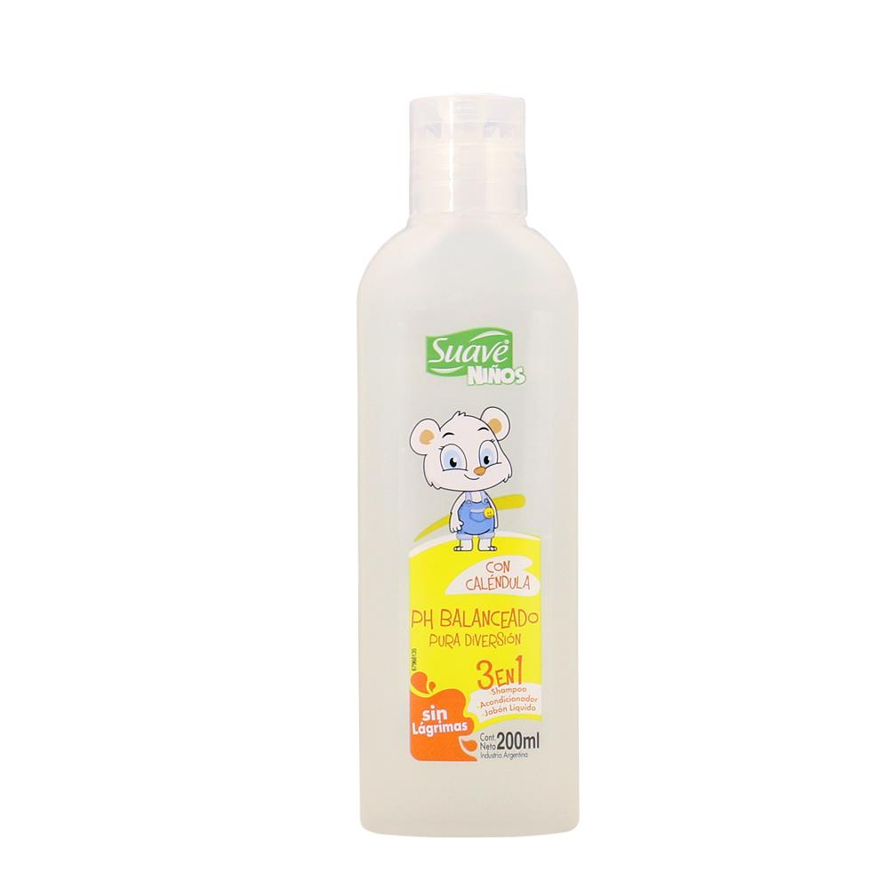 Shampoo Niños 3 En 1 S Suave Bot 200 Ml