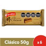 Alfajor  TERRABUSI   Chocolate Paquete 50 Gr 6 Unidades