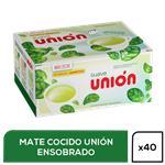 Mate Cocido Union   Suave Caja 40 Saquitos
