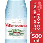 Agua Mineral Con Gas Villavicencio   Botella 500 CC