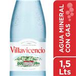 Agua Mineral Con Gas VILLAVICENCIO Botella 1.5 L