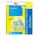 Bolsa Freezer SEPARATA 25x35 Paq 20 Uni