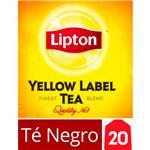 Té Negro LIPTON   Yellow Label Caja 20 Saquitos