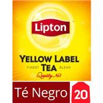 Té Negro LIPTON   Yellow Label Caja 20 Saquitos