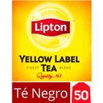 Té Negro LIPTON   Yellow Label Caja 50 Saquitos
