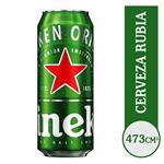 Cerveza Lager HEINEKEN   Lata 473 Cc