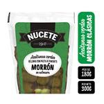 Aceitunas Verdes Nucete Rellena Morrones    Pouch 300 Gr