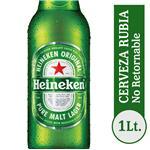 Cerveza Lager HEINEKEN   Botella 1 L