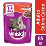 Alimento Para Gato WHISKAS Carne Pou 85 Grm