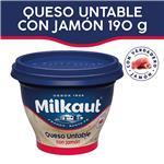 Queso Untable Jamon MILKAUT Pot 190 Grm