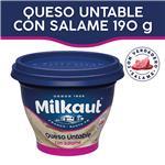 Queso Untable Salame MILKAUT Pot 190 Grm