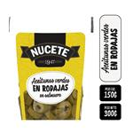 Aceitunas Verdes Nucete    En Rodajas  Pouch 300 Gr