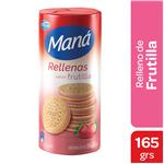 Galletitas Rellenas MANA Vainilla/Frutilla Paq 165 Grm