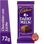 Chocolate CADBURY Con Leche Tab 72 Grm