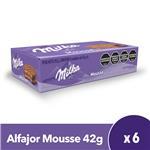 Alfajor  MILKA  Mousse Paquete 42 Gr 6 Unidades