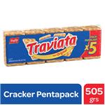 Galletitas Crackers TRAVIATA Pack 5 Uni Paq 505 Grm