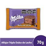 Alfajor Triple Milka  Dulce De Leche Paquete 70 Gr 1 Unidad